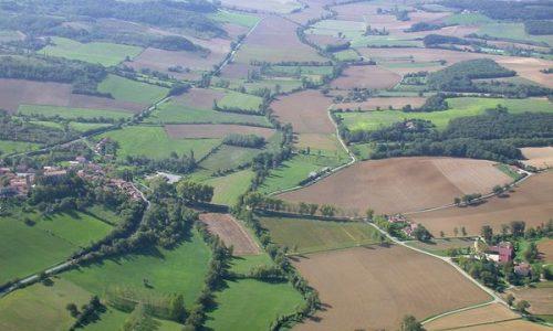 AFAOC-vue aérienne d'un maillage rural